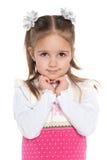 Portrait of a pretty preschool girl Royalty Free Stock Photo