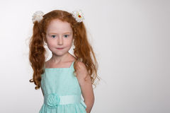 Portrait of a pretty redhead girl Stock Photo