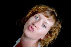 Portrait of a pretty redhead woman Stock Photo