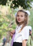 Portrait of a pretty schoolgirl Stock Images