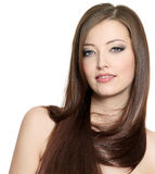 Portrait of the pretty girl with long hair Royalty Free Stock Image