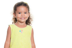 Portrait of a pretty small hispanic girl smiling Stock Images
