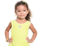 Portrait of a pretty small hispanic girl smiling Royalty Free Stock Image