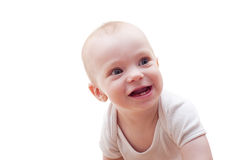 Portrait of pretty smiley baby Stock Photo