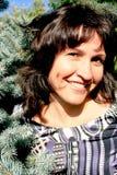 Portrait pretty smiling brunette Stock Image