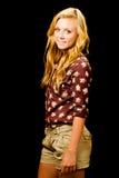 Portrait of pretty smiling happy teenage girl Stock Image