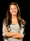 Portrait of pretty smiling happy teenage girl Royalty Free Stock Images