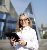 Portrait of pretty student or businesswoman Stock Images