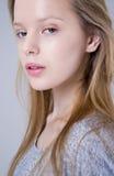 Portrait of pretty teenage girl stock photo