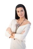 Portrait of pretty trendy woman Royalty Free Stock Photography