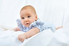 Portrait of the pretty white 4 months baby Royalty Free Stock Image