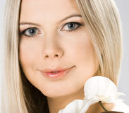 Portrait of pretty woman royalty free stock photo