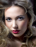 Portrait of pretty woman Stock Photos