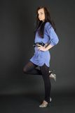 Portrait of pretty woman Stock Images