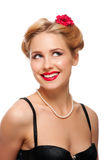 Portrait of pretty woman royalty free stock images