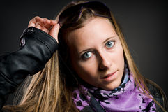 Portrait of a pretty woman Stock Images