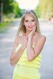 Portrait of pretty woman Royalty Free Stock Photography