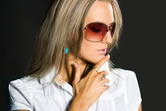 Portrait of pretty woman Stock Image