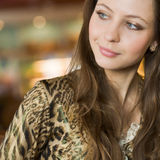 Portrait of pretty woman with long hairs Stock Image