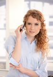 Portrait of pretty woman using mobile phone Royalty Free Stock Photos