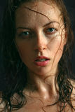 Portrait of a pretty woman with wet hair Royalty Free Stock Images