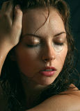Portrait of a pretty woman with wet hair Royalty Free Stock Photos