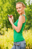 Portrait of pretty woman working Royalty Free Stock Images