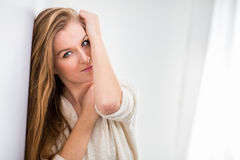 Portrait of a pretty woman Stock Photography