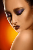 Portrait of pretty young adult asian woman with make up Stock Photos