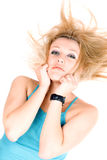 Portrait of pretty young blond girl Royalty Free Stock Images