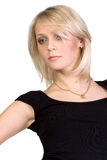 Portrait of pretty young blond woman. Isolated Royalty Free Stock Image