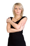 Portrait of pretty young blond woman. Isolated Stock Image