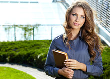 Portrait of pretty young business woman Stock Image