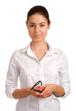 Portrait of a pretty young businesswoman Stock Image