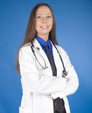Portrait of pretty young doctor with stethoscope Royalty Free Stock Photo