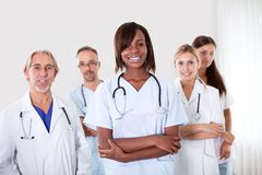 Portrait of pretty young female doctor Royalty Free Stock Photography