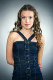 Portrait of a pretty young girl. With long ringlets hair Royalty Free Stock Photos