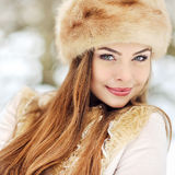 Portrait of pretty young girl in winter Royalty Free Stock Photography