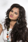 Portrait of Pretty young Indian girl Stock Images