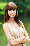 Portrait of pretty young lady Royalty Free Stock Image