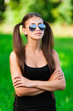 Portrait of pretty young lady Stock Photography