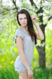 Portrait of pretty young lady in a park - Outdoor Stock Images