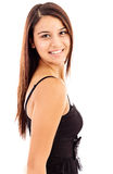 Portrait of a pretty young  lady smiling Royalty Free Stock Photos