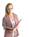 Portrait of pretty young student girl. Royalty Free Stock Image