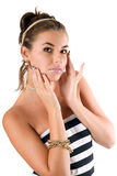 Portrait of the pretty young woman Royalty Free Stock Images