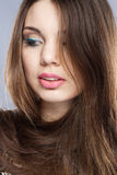 Portrait of a pretty young woman Royalty Free Stock Images