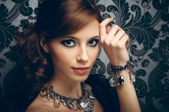 Portrait of pretty young woman Royalty Free Stock Photo
