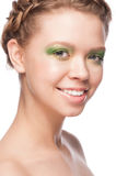 Woman with beautiful makeup Royalty Free Stock Photo