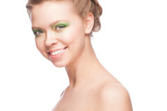 Woman with beautiful makeup Royalty Free Stock Image