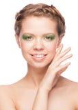 Woman with beautiful makeup Stock Image